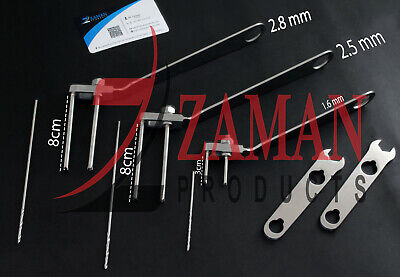Cannulated Screw Drill Guide Drill Bit Adjustable Parallel Wire 1.62.52.8mm Zp