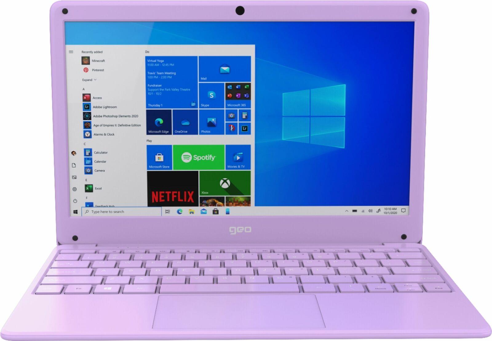 Geo - GeoBook 120 12.5-inch HD Laptop - Intel Celeron Dual Core Processor - 4...