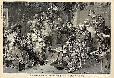Ernst Zimmermann ( Die Wallensteiner ) Militärische Graphik von 1899