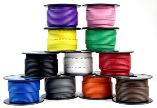 6 Rolls 18 Gauge 100 Feet Primary Remote Wire Cable Auto Car Audio Audiopipe