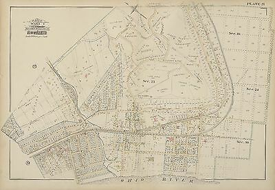 OHIO GARRARD AV MAP PRICE HILL GRAND AV HAMILTON COUNTY 1884 CINCINNATI