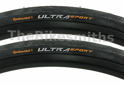 2PAK Continental Ultra Sport II 700 x 23 25 28 or 32mm Road Bike Tire Wire Bead