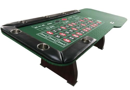 """96"""" Roulette table wooden legs, replaceable arm rest & felt, prep drop box jumbo"""