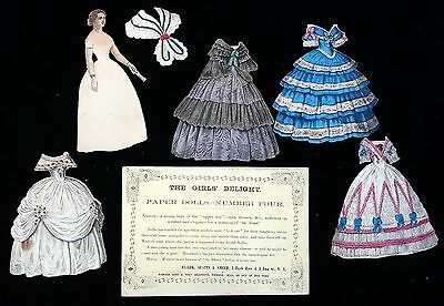 The Girls' Delight Paper Doll - No. 4 - Nellie - Clark, Austin & Smith 1858