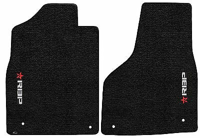 Dodge Ram Truck  Black Carpet Floor Mats -RBP- Rolling Big Power Logo - Dodge Truck Black Carpet