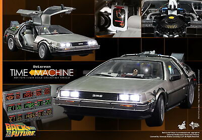 (US) HOT TOYS 1/6 MMS260 BACK TO THE FUTURE DELOREAN TIME MACHINE CAR