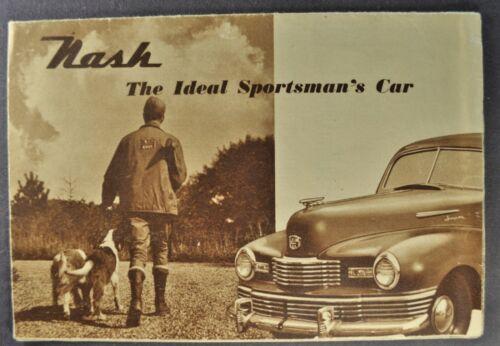 1948 Nash Sportsman Brochure 600 Ambassador Brougham Sedan Nice Original 48