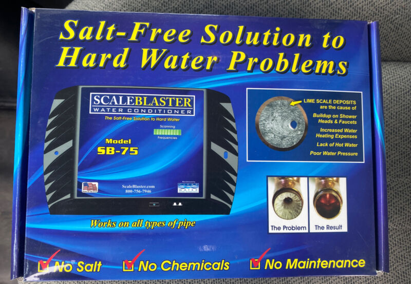 New ScaleBlaster SB-75 Hard Water Conditioner - Hard Water Solution