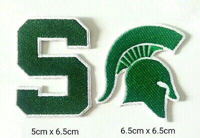 Michigan State Embroidery - MSU Michigan State set 2pcs NCAA Sport Patch Logo Embroidery Iron,Sew on Cloth