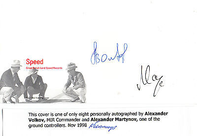 SPEED COVER HAND SIGNED BY COSMONAUT ALEXANDER VOLKOV & ALEXANDER MARTYNOV (a)