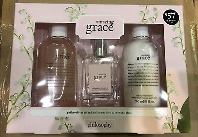 Grace Gift Set - Philosophy Amazing Grace 3 pc Gift Set - Shower Gel, EDT Spray, Firming Emulsion