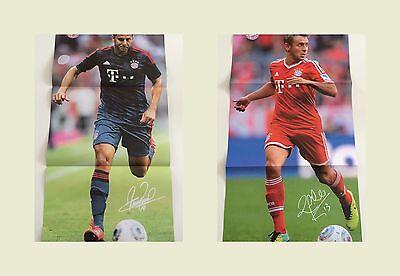 Fc Bayern München Poster Claudio Pizarro und Rafinha