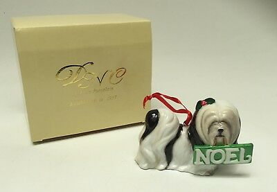 Lhasa Apso Noel Dog Fine Porcelain Christmas Ornament DNC New