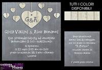 Partecipazioni Matrimonio Inviti Nozze Sposa Shabby Chic Chalkboard Lavagna -  - ebay.it