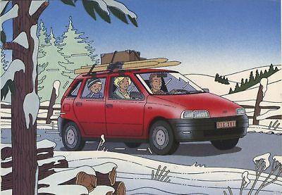Carte postale  Carte publicitaire, Fiat Punto par Goffin