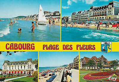 France - Cabourg  -  Water sports on the beach - Grand Hotel - Promenade  - 1990, used for sale  Shipping to Nigeria