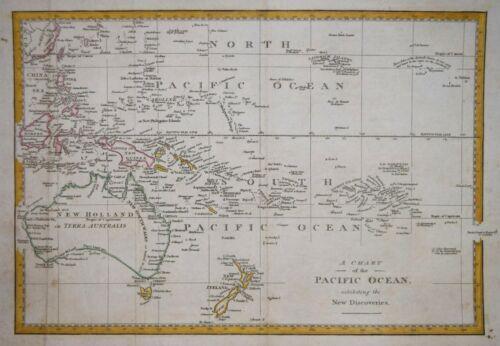 A CHART OF THE PACIFIC OCEAN , LONDON CIRCA 1790.