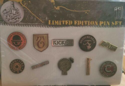 The SLACKERS pirates press enamel pin pack #3, 10 pins incl Slackers * XMAS SALE