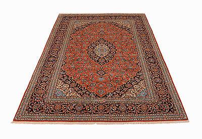 Kashan Roten Teppich (Kashan 290 x 200 cm Hochwertiger Handgeknüpfter Perser Orientteppich in Rostrot)