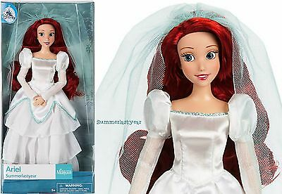 "ARIEL WEDDING ~DISNEY STORE 11-1/2"" CLASSIC DOLL~ THE LITTLE MERMAID NEW!"