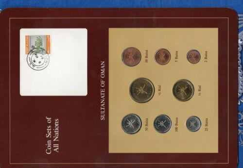 Coin Sets of All Nations Oman 1970-1984 UNC 100 Baisa 1984 2 Baisa 1390 9APR84