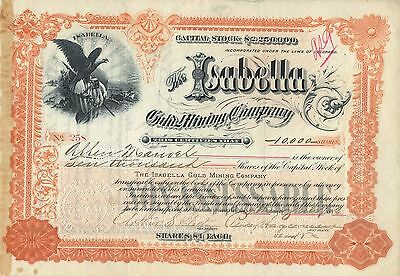 10 000 Shares Of The Isabella Gold Mining Company