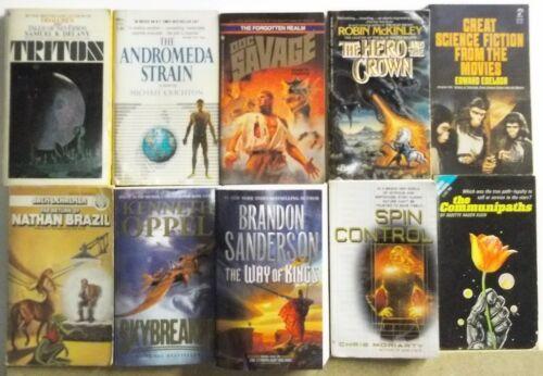 Huge Lot of 10 Science Fiction Fantasy Novels FREE US S/H Read List Lot #H719