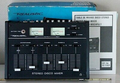 TABLE DE MIXAGE REALISTIC 32-100A STEREO DISCO MIXER VINTAGE for sale  Shipping to Nigeria