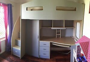 Odyssey Space Saver bunk bed and desk Rothwell Redcliffe Area Preview