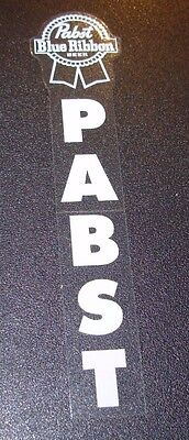 PABST White Clear Vertical STICKER decal craft beer brewery brewing