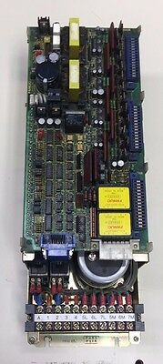 Fanuc Servo Amplifier Unit, # A06B-6057-H201, Top Board# A16B-1200-0680 02A Used