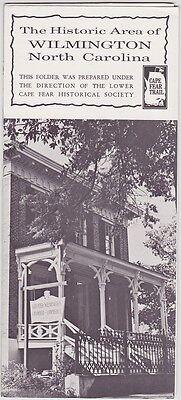 c1970 Historic Area Of Wilmington NC Promotional Brochure