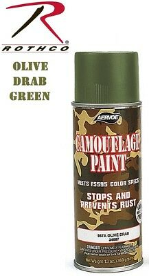 OD Green Olive Drab Camouflage 12 Oz. Aerosol Can Spray Paint Can Rothco -