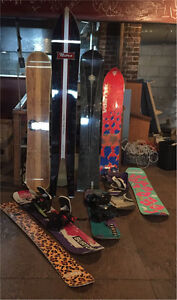 Snowboard vintage collection