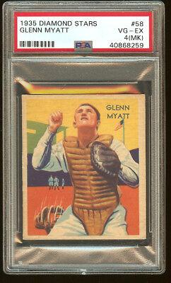 1935 Diamond Stars  58 Glenn Myatt Psa Vg Ex 4  Mc