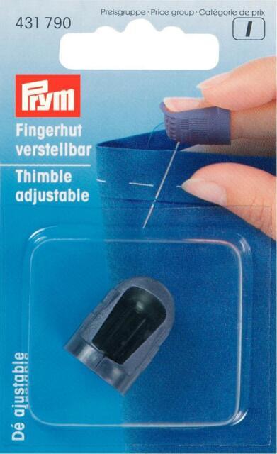 Prym Fingerhut verstellbar ideal bei längeren Fingernägeln 431790