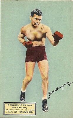 Jack Dempsey postcard advertising his new restaurant in NYC for sale  Carbondale