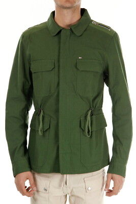 $398 NEW DIESEL Jacket in Green Size XL Slim Fit 100% Cotton