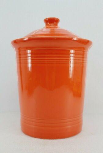FIESTA WARE large CANISTER CROCK LID poppy orange NEW
