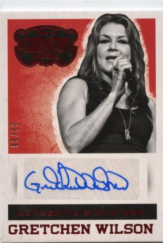 Gretchen Wilson 2014 Panini Country Music Authentic Signature red Auto #D 99/99