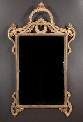 Venetian style gold gilt bevelled edge mirror with arched and floral c... Lot 88