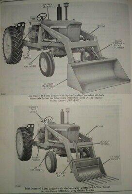 John Deere 46 Farm Loader Parts Catalog Manual Original Fits 3010more Tractors