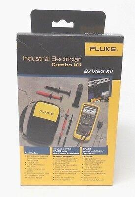 Fluke 87v E2 Industrial Electrician Combo Kit 87ve2  New In Box  Msrp 425