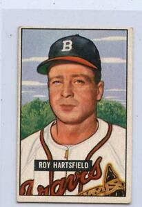 1951-BOWMAN-BASEBALL-HI-277-ROY-HARTSFIELD-MILWAUKEE-BRAVES