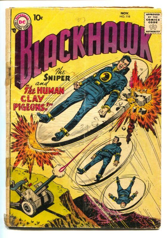 BLACKHAWK COMICS #118 1957-comic book-DC COMICS G