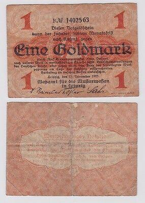 1 Goldmark Banknote Leipzig Meßamt für Mustermessen 15.11.1923 (121663)