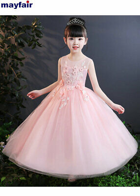 Flower Girls Wedding Bridesmaid Princess Dress for Baby Kids Party Pageant Gown](Princess Dresses For Children)