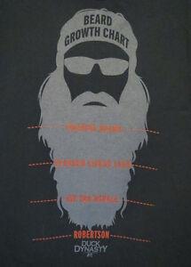 Duck Dynasty Beard Growth Chart Black T Shirt S M L XL 2XL 3XL