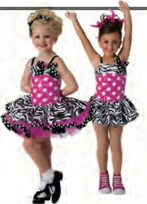 Costume Gallery Girl Size Small Hot Pink 2 In 1 Style # 15116C NWT  - Girls In Hot Costumes
