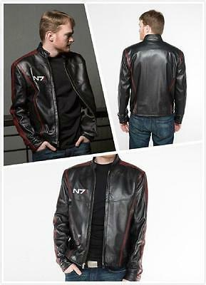 Mass Effect 3N7 Sheperd stylish leather zipper jacket Motorcycle jacket Costume](Sheperd Costume)